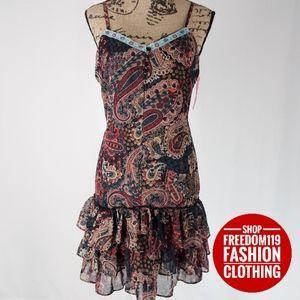 Xhilaration | Drop Waist Ruffle Mini Dress (L)